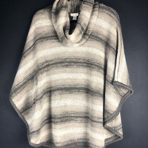 Chico's Chunky Knit Poncho Style Sweater Size S/M